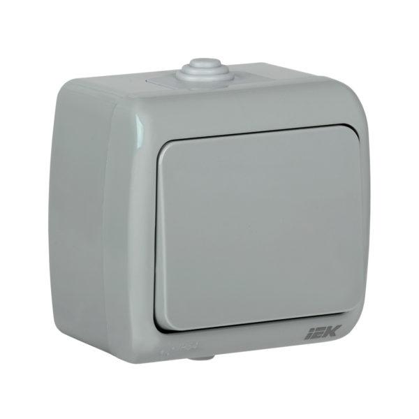 Выключатель 1-клавишный для открытой установки ВС-20-1-0-А 10А IP54 AQUATIC IEK
