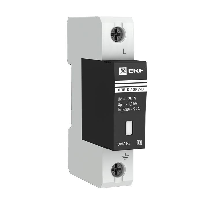 Ограничитель импульсных напряжений ОПВ-D/1P In 5кА 230В с сигн. EKF PROxima