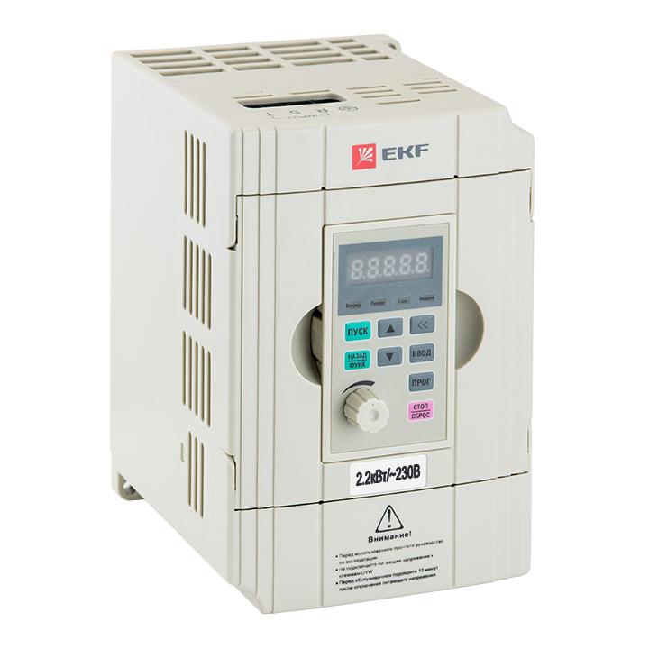 Преобразователь частоты 2,2/4кВт 1х230В VECTOR-100 EKF PROxima