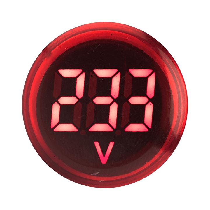 Индикатор значения напряжения красный  ED16-22VD EKF PROxima