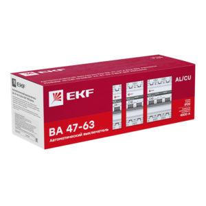 Автоматический выключатель 1P  0,8А (C) 4,5kA ВА 47-63 EKF PROxima