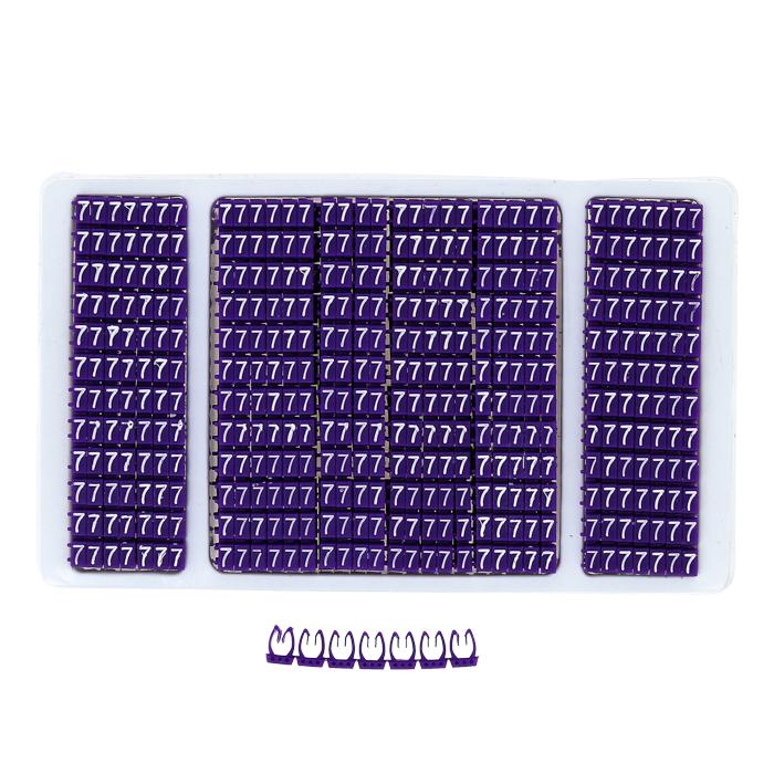 """Кабельный маркер 2,5кв.мм """"7"""" фиолетовый (к-1000ед) EKF PROxima"""