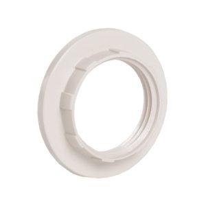 Кольцо абажурное КП14-К02 к патрону Е14 пластик белый (индивидуальный пакет) IEK