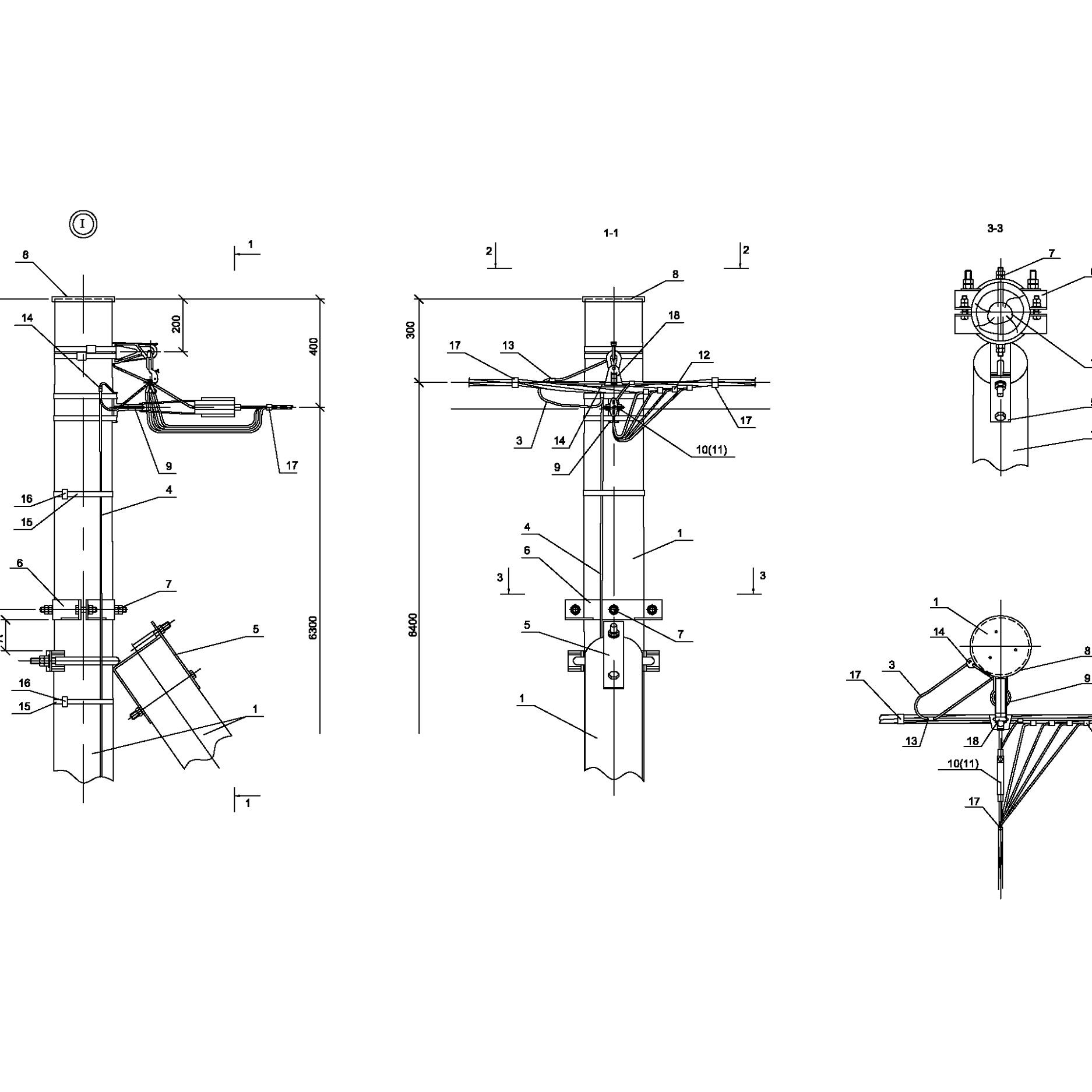 Опора ОАд151 деревянная анкерная ответвительная одноцепная IEK
