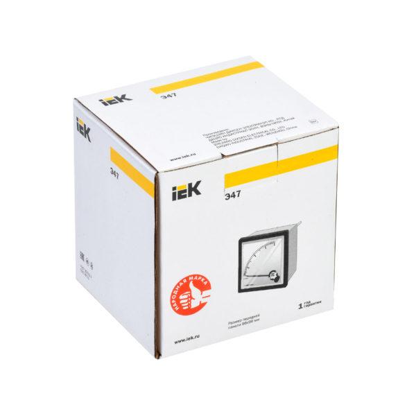 Амперметр аналоговый Э47 1500/5А класс точности 1,5 96х96мм IEK