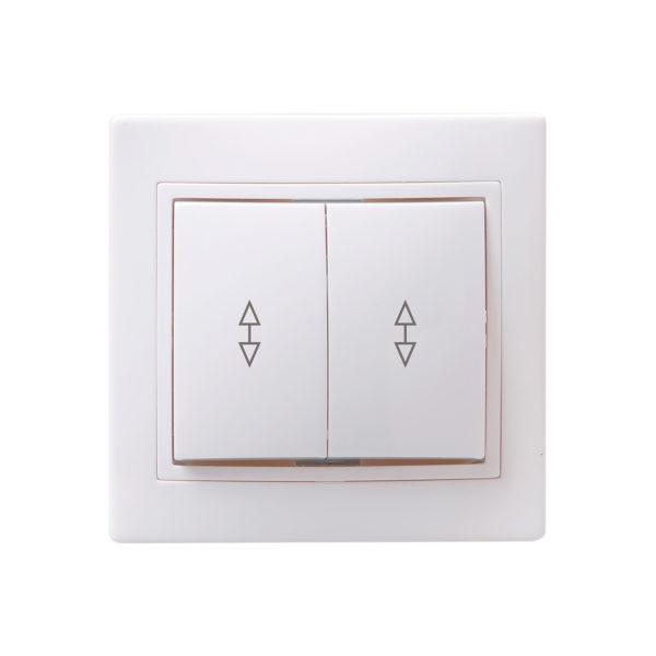 Выключатель 2-клавишный проходной ВСп10-2-0-КБ 10А КВАРТА белый IEK