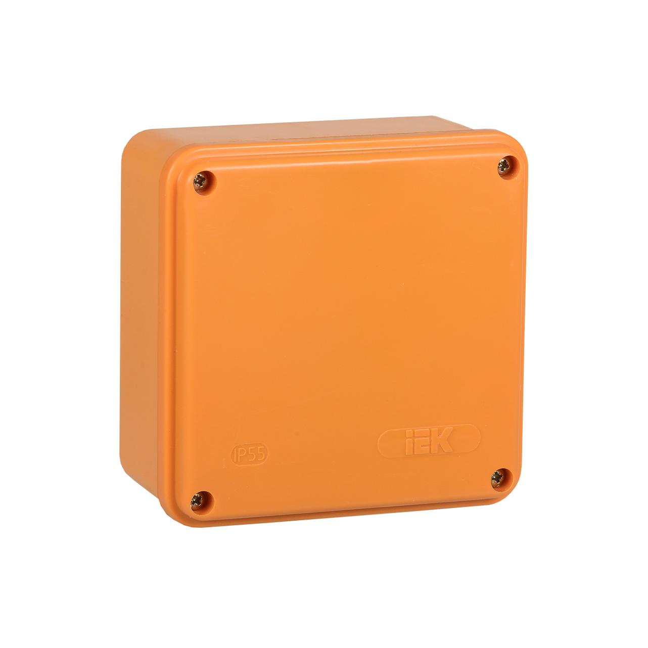 Коробка распаячная огнестойкая ПС 100х100х50мм 6P 4мм2 IP44 гладкие стенки IEK 1