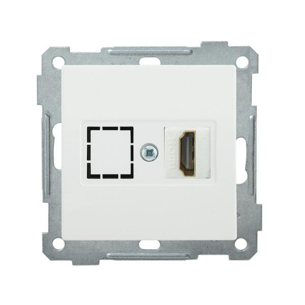Розетка HDMI РHDMI-0-Б BOLERO белый IEK