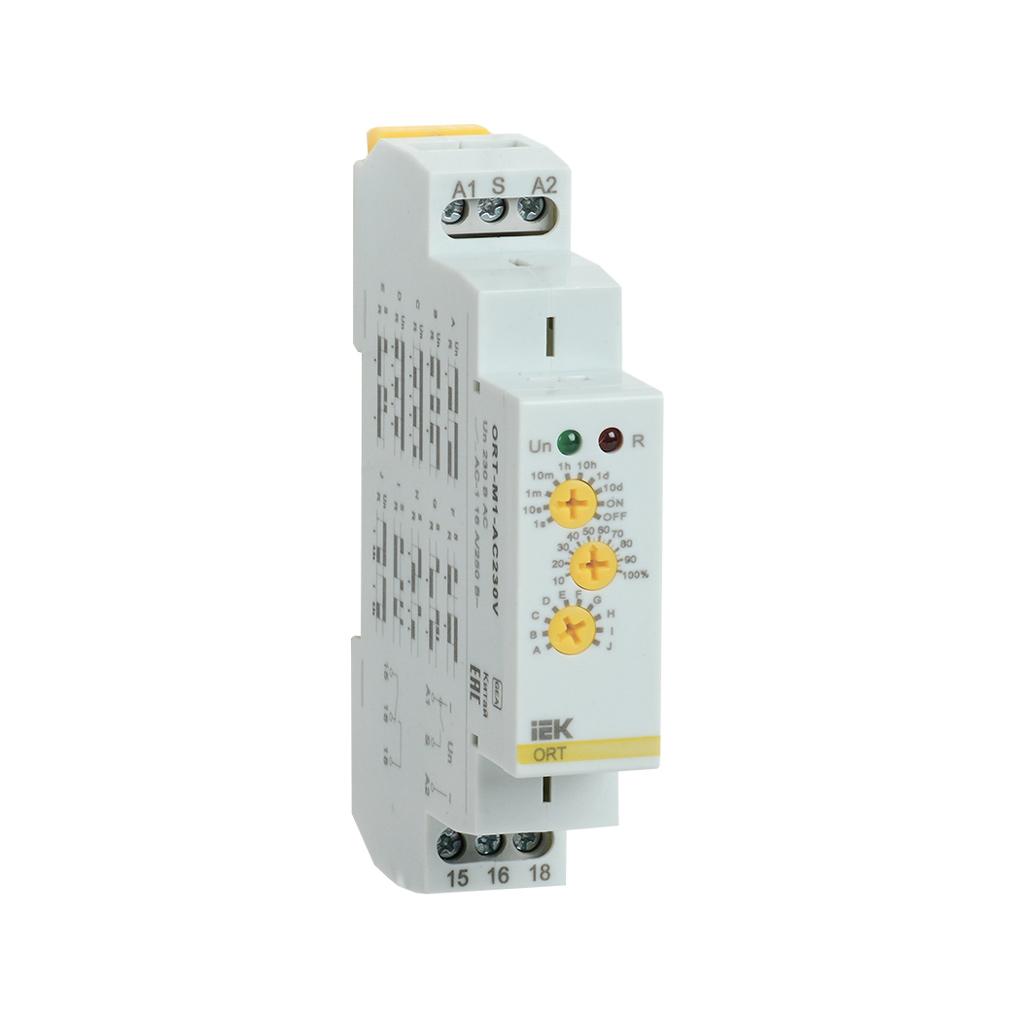 Реле времени ORT многофункциональное 1 контакт 230В AС IEK