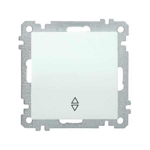 Выключатель 1-клавишный проходной ВС10-1-2-Б 10А BOLERO белый IEK