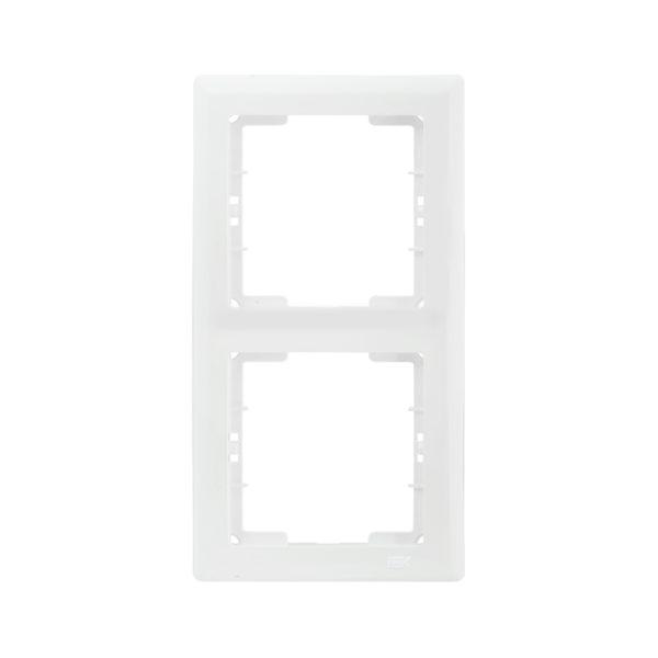 Рамка 2-местная вертикальная РВ-2-ББ BOLERO белый IEK