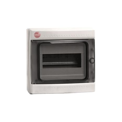 Щиток настен с двер 8мод IP65 сер с усил клем блок 1х87308