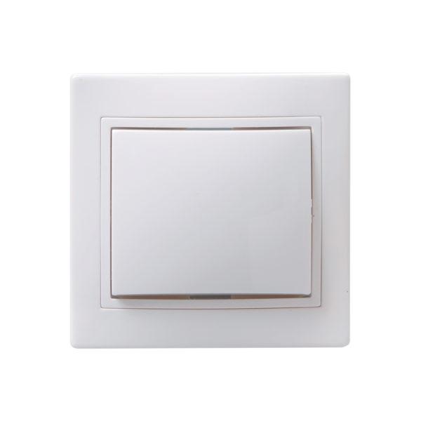 Выключатель 1-клавишный кнопочный звонок ВСк10-1-0-КБ 10А КВАРТА белый IEK