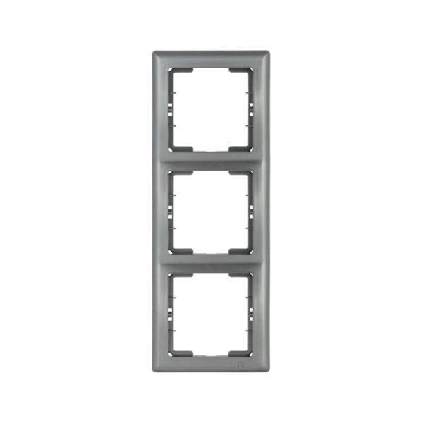 Рамка 3-местная вертикальная РВ-3-БА BOLERO антрацит IEK