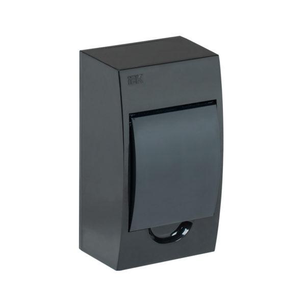 KREPTA 3 Корпус пластиковый ЩРН-П-4 IP41 черный IEK