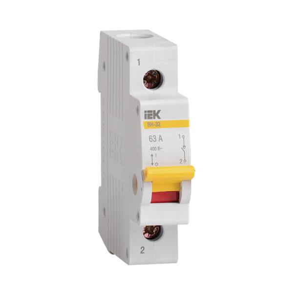 Выключатель нагрузки (мини-рубильник) ВН-32 1Р 63А IEK