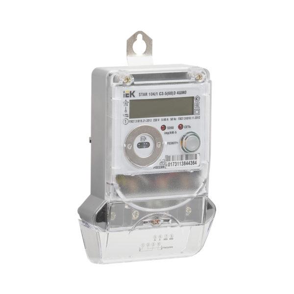 Счетчик электрической энергии однофазный многотарифный STAR 104/1 С3-5(60)Э 4ШИО IEK