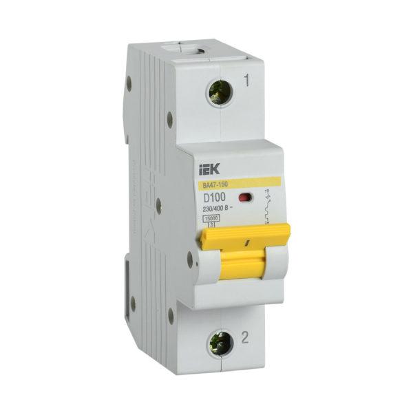 Выключатель автоматический ВА47-150 1Р 100А 15кА D IEK