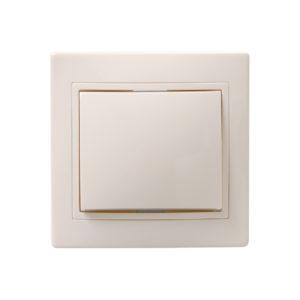 Выключатель 1-клавишный ВС10-1-0-ККм 10А КВАРТА кремовый IEK