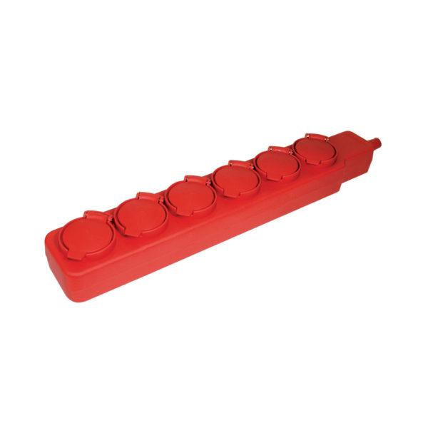 Удлинитель У06В 6 мест с защитными крышками IP44 2P+PE/5м 3х1мм2 16А/250В IEK