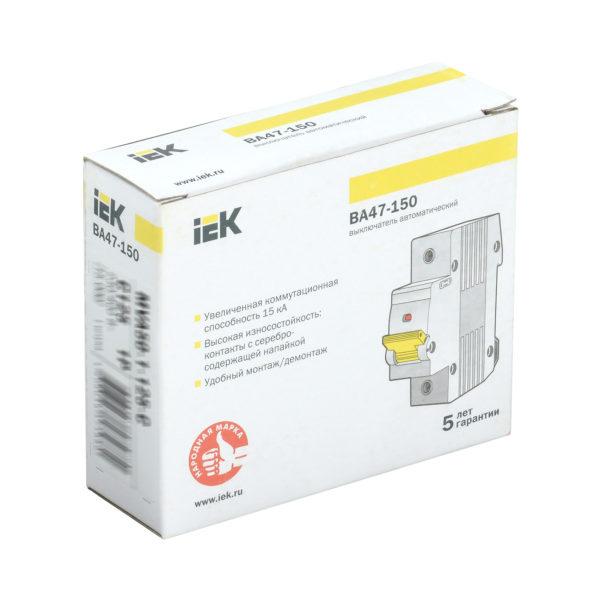 Выключатель автоматический ВА47-150 1Р 63А 15кА D IEK