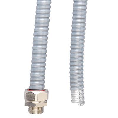 Металлорукав DN 15мм в герметичной ПВХ изоляции Dвн 15 5 мм Dнар 19 5серый