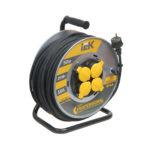 Катушка УК50 на мет. с термозащитой 4 места 2P+PE/50м КГ 3х2,5мм2 IP44 PROFESSIONAL IEK