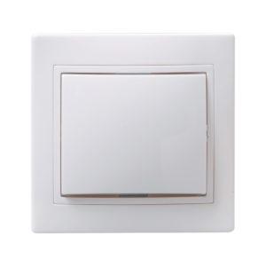 Выключатель 1-клавишный ВС10-1-0-КБ 10А КВАРТА белый IEK