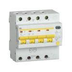 Дифференциальный автоматический выключатель АД14S 4Р 50А 100мА IEK