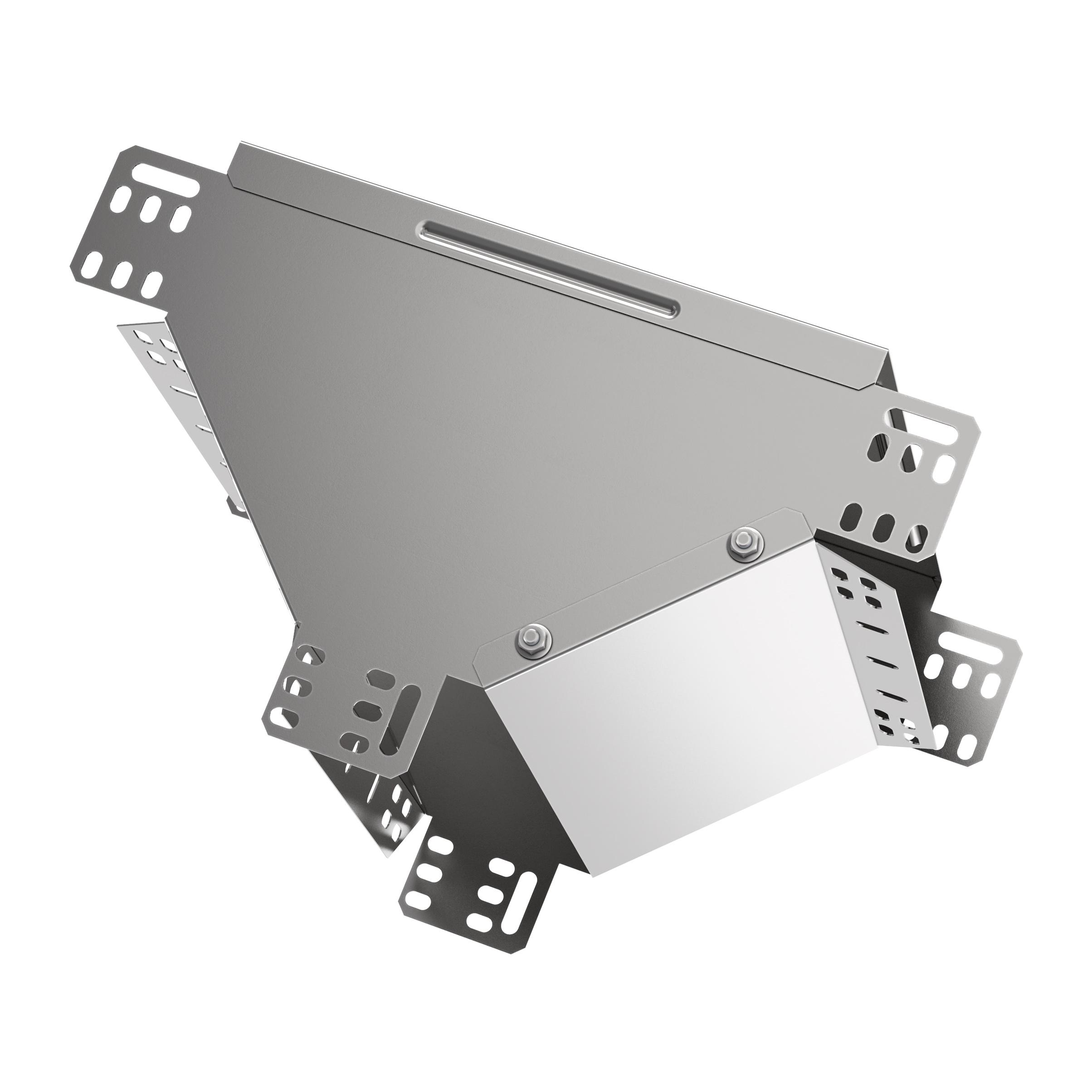 Ответвитель Т-образный вертикальный вниз 100х400 HDZ IEK 1