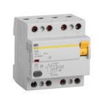 Выключатель дифференциальный (УЗО) ВД1-63S 4Р 50А 100мА IEK