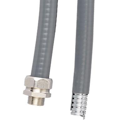Металлорукав DN 10мм в гладкой EVA изоляции Dвн 10 0 мм Dнар 15 0серый