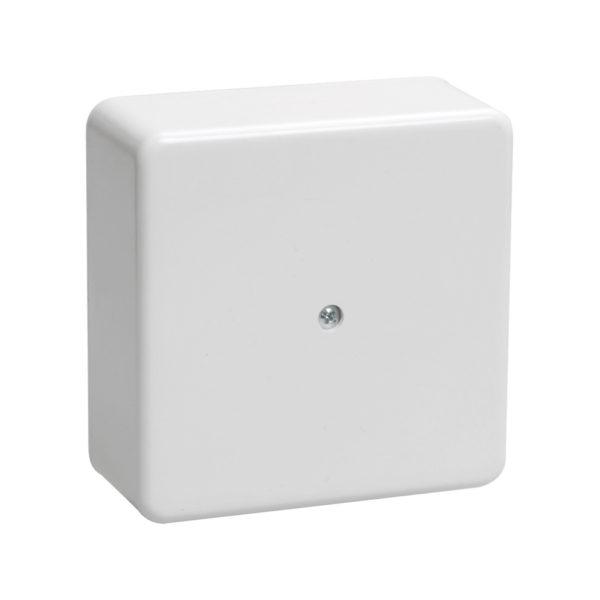 Коробка распаячная КМ41222 для открытой проводки 100х100х44мм белая (6 клемм 6мм2) IEK