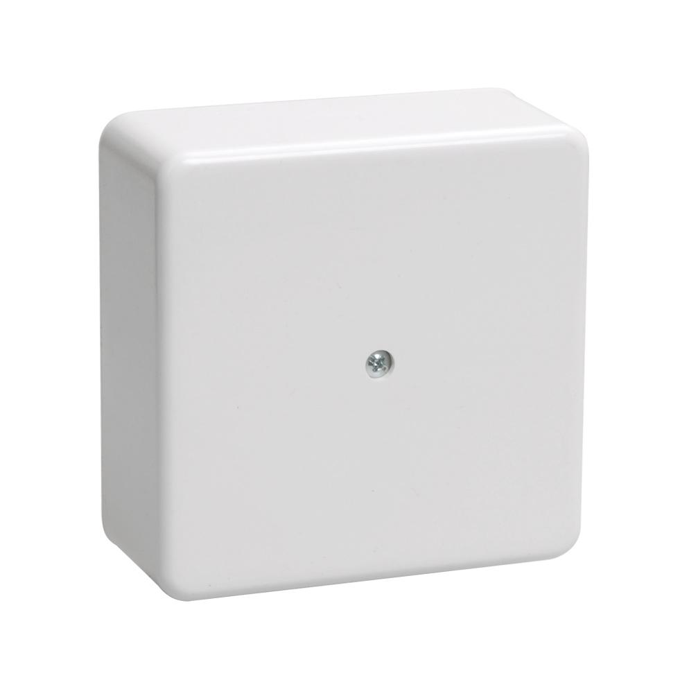 Коробка распаячная КМ41222 для открытой проводки 100х100х44мм белая (6 клемм 6мм2) IEK 1
