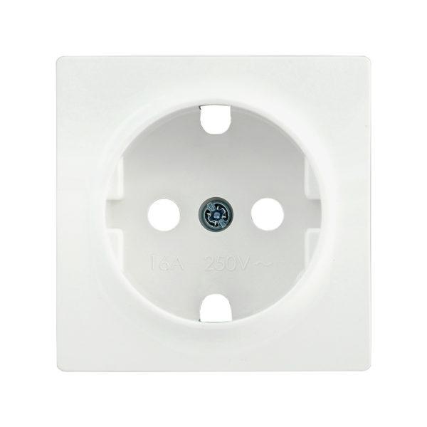 Накладка розетка НР-1-1-ББ с заземляющим контактом BOLERO белый IEK