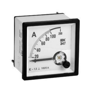 Амперметр аналоговый Э47 100/5А класс точности 1,5 96х96мм IEK