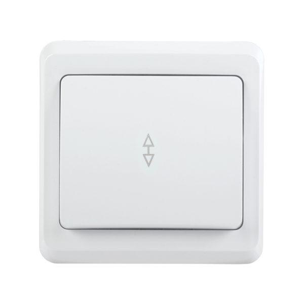 Выключатель 1-клавишный проходной ВСп10-1-0-ВБ 10А ВЕГА белый IEK