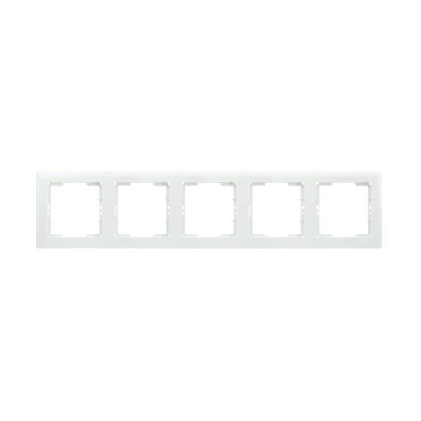 Рамка 5-местная горизонтальная РГ-5-ББ BOLERO белый IEK