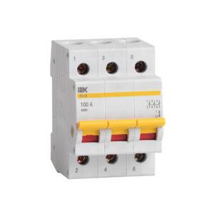 Выключатель нагрузки (мини-рубильник) ВН-32 3Р 100А IEK