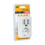Розетка-таймер электронный РТЭ-2 с индикацией 15мин-6ч 16А IP20 IEK 2