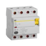 Выключатель дифференциальный (УЗО) ВД1-63 4Р 16А 10мА тип А IEK 1