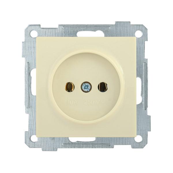 Розетка без заземляющего контакта РС10-1-0-Б 10А BOLERO кремовый IEK