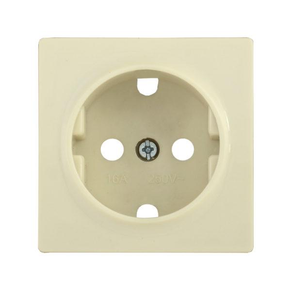Накладка розетка НР-1-1-БК с заземляющим контактом BOLERO кремовый IEK