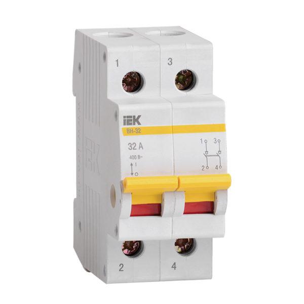 Выключатель нагрузки (мини-рубильник) ВН-32 2Р 32А IEK