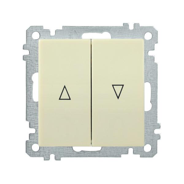 Выключатель 2-клавишный жалюзи ВС10-1-5-Б BOLERO кремовый IEK