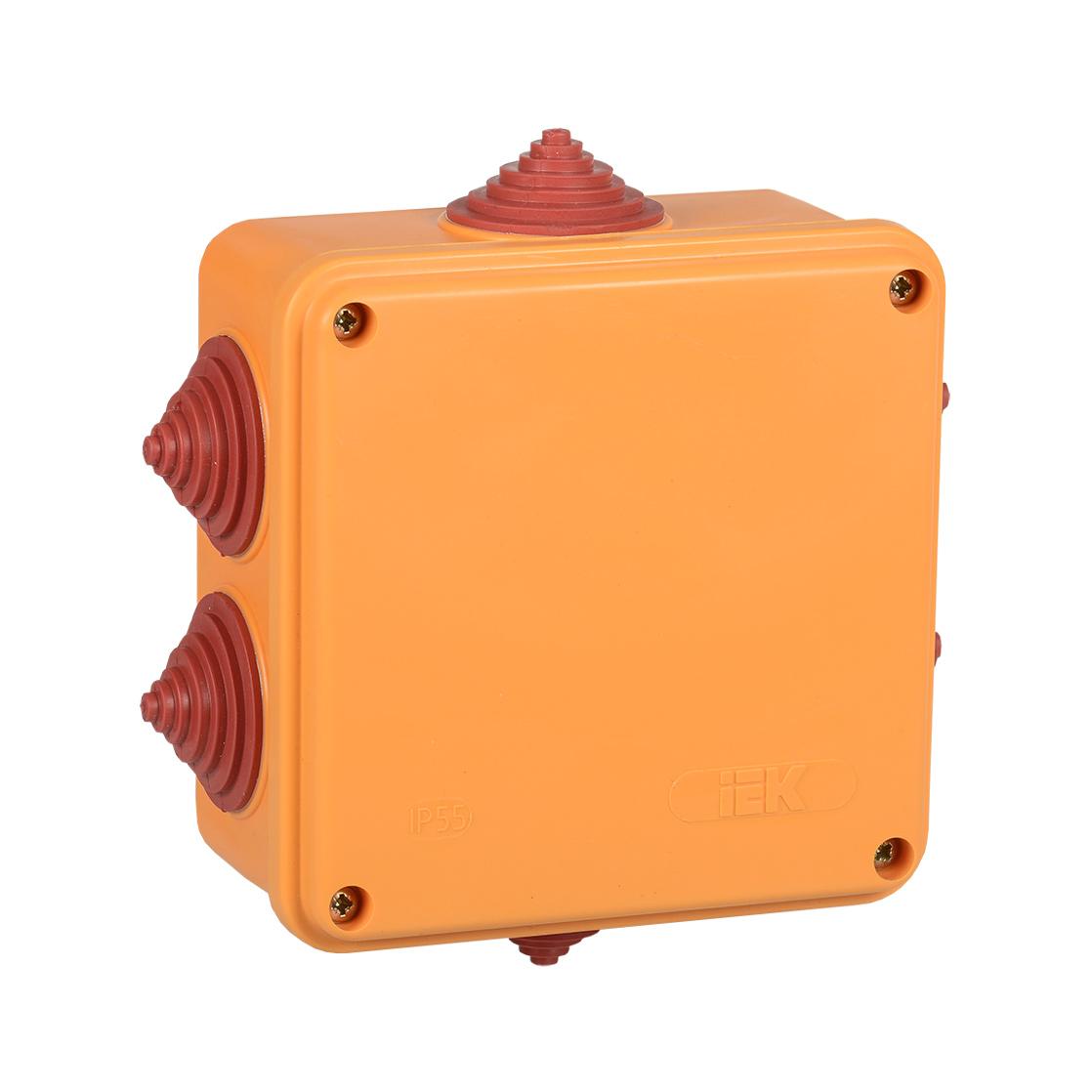 Коробка распаячная огнестойкая ПС 100х100х50мм 6P 4мм2 IP55 6 вводов IEK