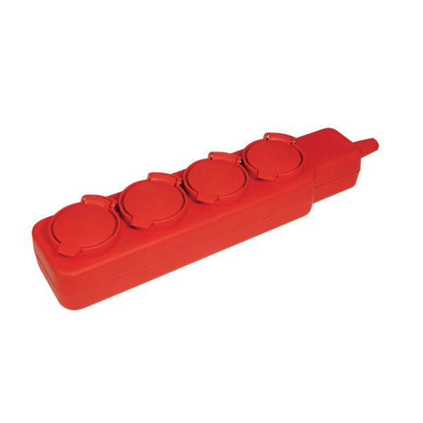 Удлинитель У04В 4 места с защитными крышками IP44 2P+PE/5м 3х1мм2 16А/250В IEK