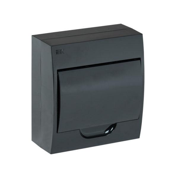 KREPTA 3 Корпус пластиковый ЩРН-П-8 IP41 черная дверь черный IEK