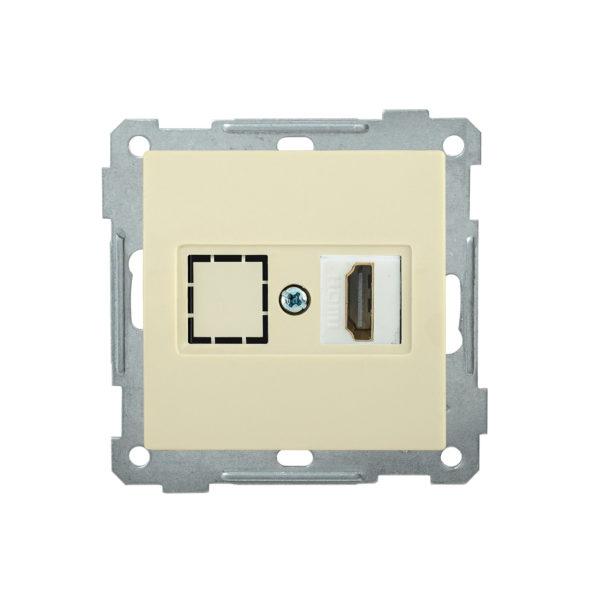 Розетка HDMI РHDMI-0-Б BOLERO кремовый IEK