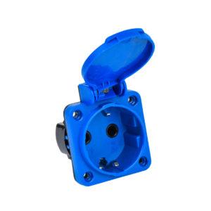 MAGNUM Розетка панельная SCHUKO РП11-3 IP44 синий IEK